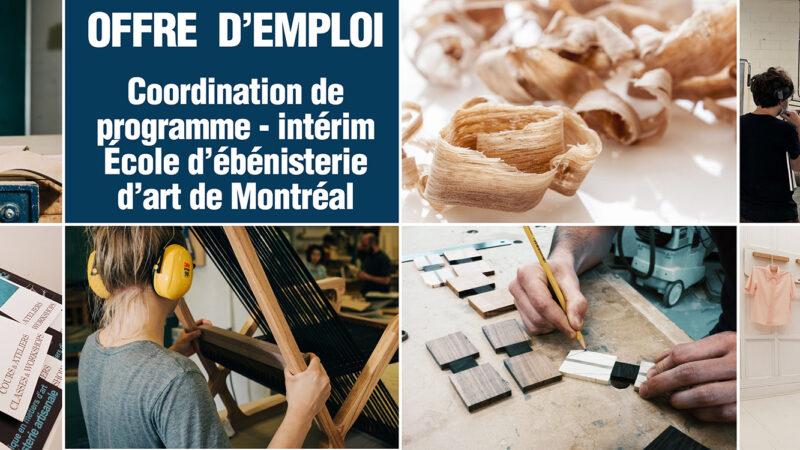 Offre d'emploi – Coordination de programme – Intérim